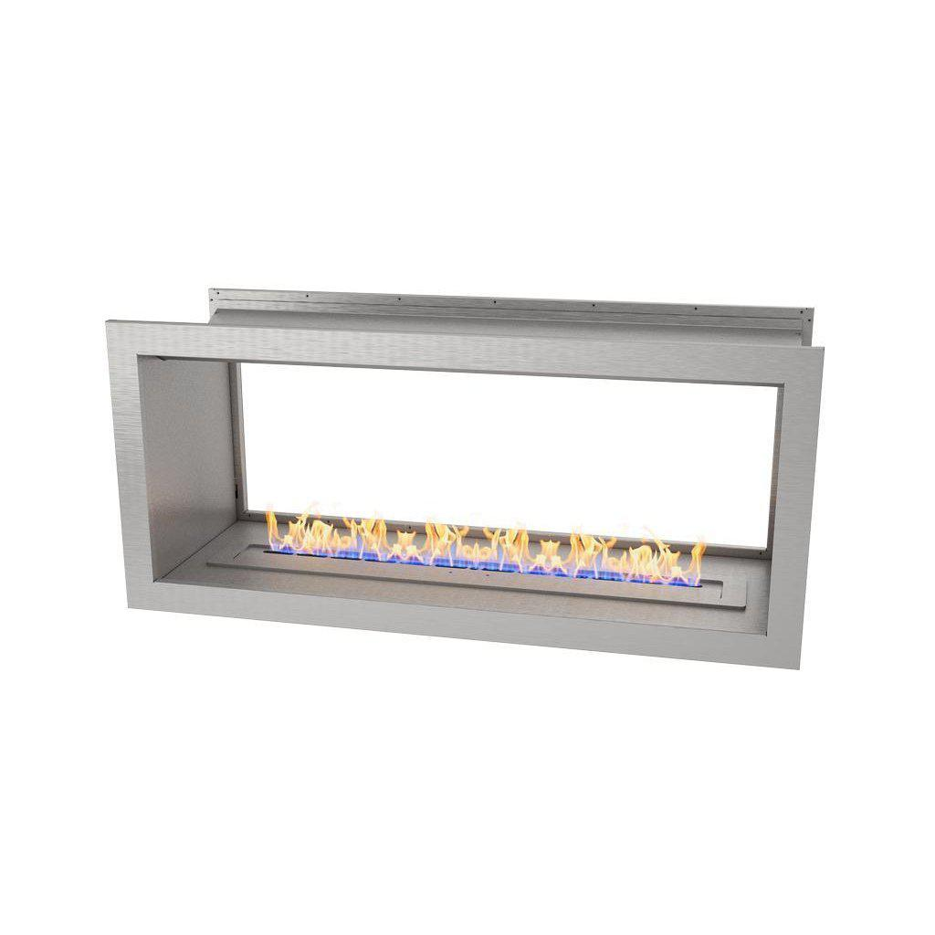 Slimline Double Sided Firebox 1100 with Slimline 800 Burner & Stainless Steel Fascia