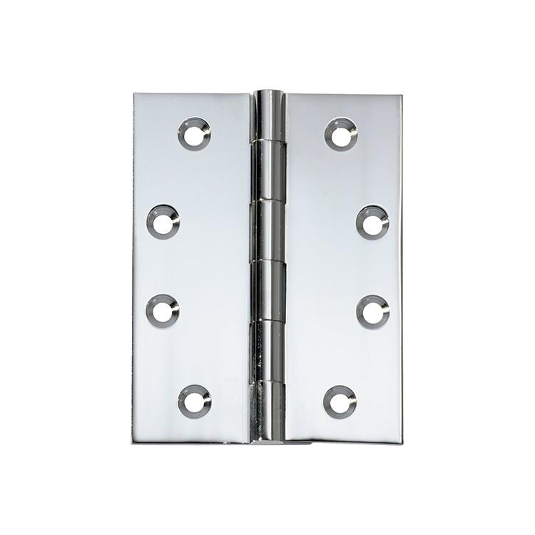 Hinge Fixed Pin Chrome Plated H100xW75mm LOCKS, LATCHES & HINGES HARDWARE