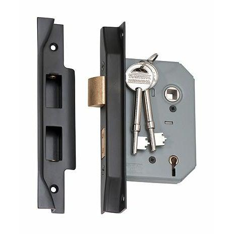 Mortice Lock 5 Lever Rebated Antique Copper CTC57mm Backset 57mm LOCKS, LATCHES & HINGES HARDWARE