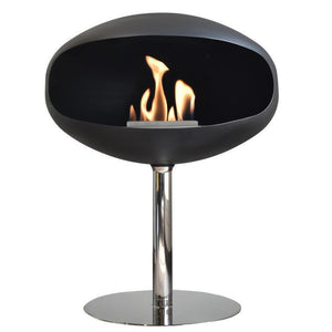 Pedestal Standing Cocoon Matte Black with Stainless Steel Base