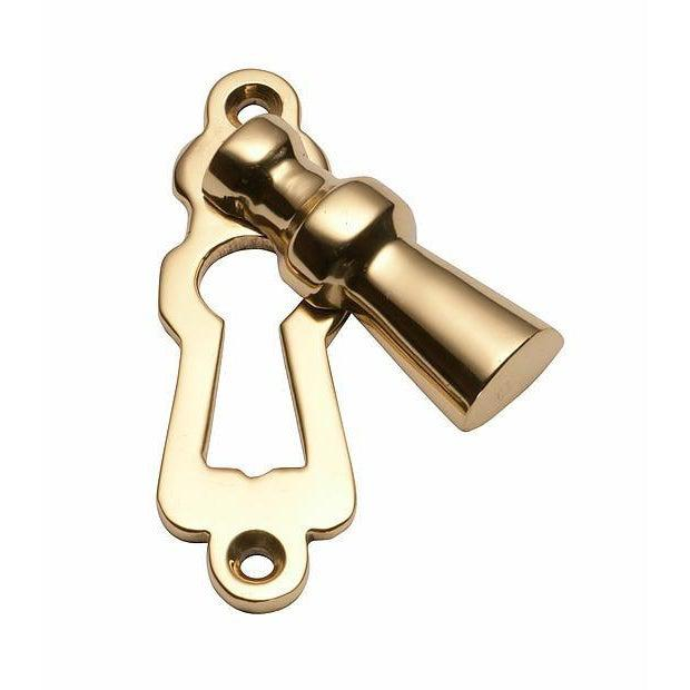 Escutcheon Covered Polished Brass H60xW20mm LOCKS, LATCHES & HINGES HARDWARE