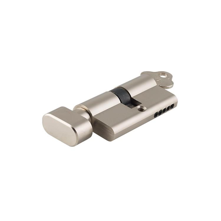 Euro Cylinder Key/Thumb 5 Pin Satin Nickel  L60mm