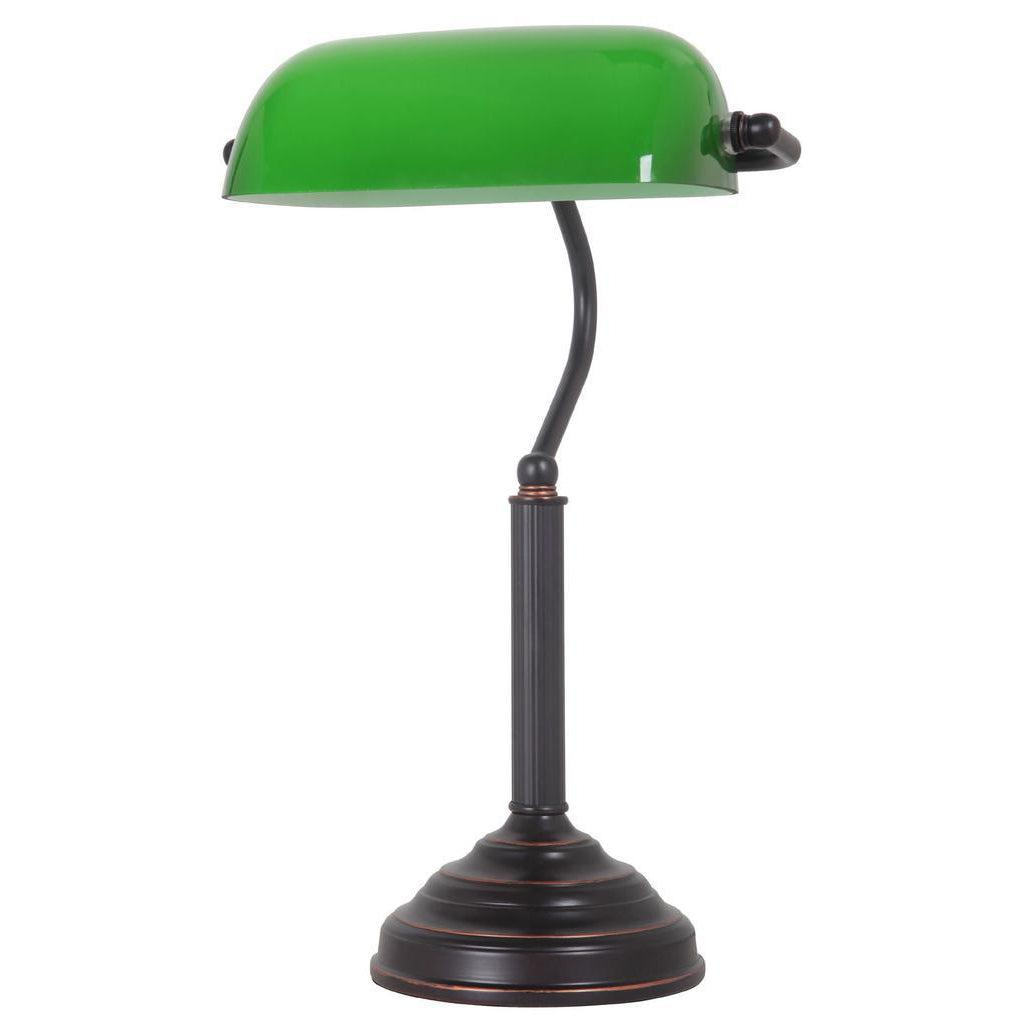 STUDY TABLE LAMP 27X20X43CM FRAME SIZE BRONZE/GREEN