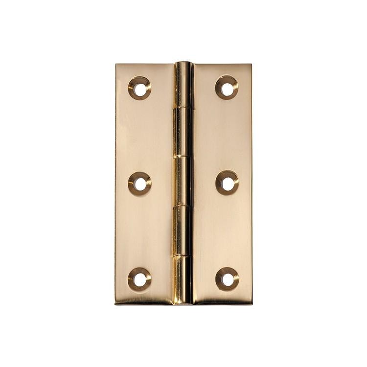 Hinge Fixed Pin Polished Brass H89xW50mm