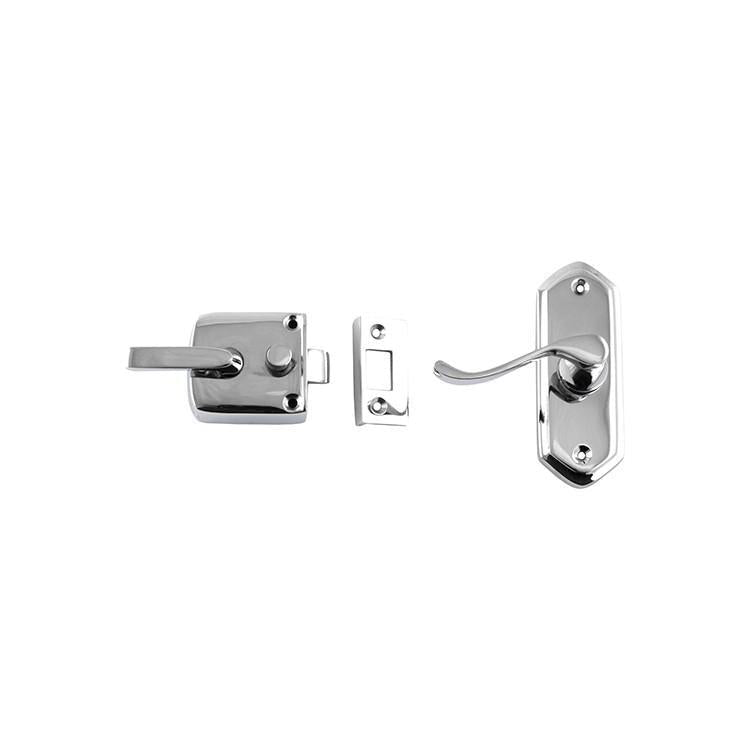 Screen Door Latch Left Hand External Chrome Plated H98xW36mm P40mm