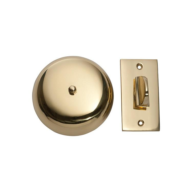 Turn Bell Plain Polished Brass D90mm