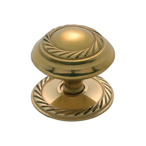 Cupboard Knob Sheet Brass Georgian Polished Brass D38xP32mm