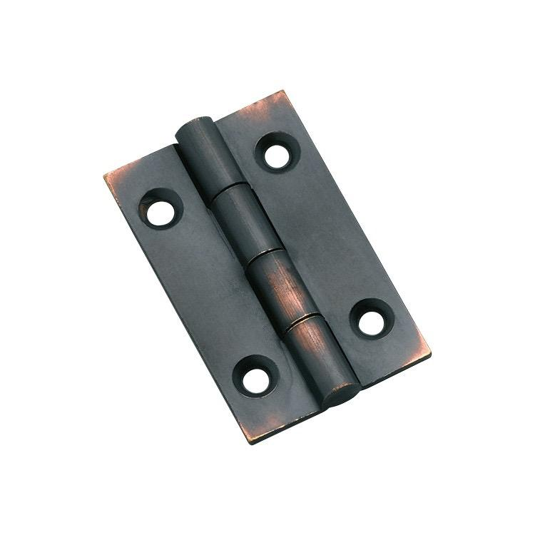 Cabinet Hinge Fixed Pin Antique Copper H38xW22mm