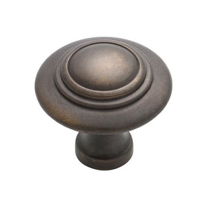 Cupboard Knob Domed Antique Brass D38xP35mm