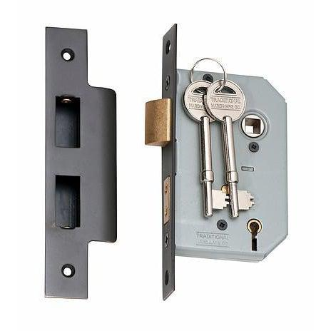 Mortice Lock 5 Lever Antique Copper CTC57mm Backset 46mm LOCKS, LATCHES & HINGES HARDWARE
