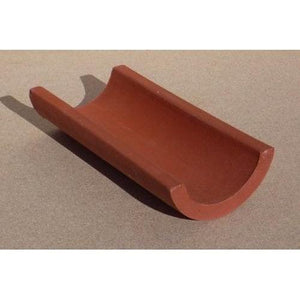 Terracotta 1/2 Pipe 30X13.5cm CLAY PRODUCTS BUILDING SUPPLIES