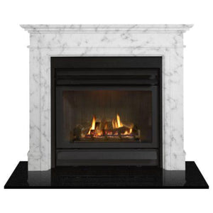 Alston Marble Mantle White MANTLES AND SURROUNDS FIREPLACES & HEATING