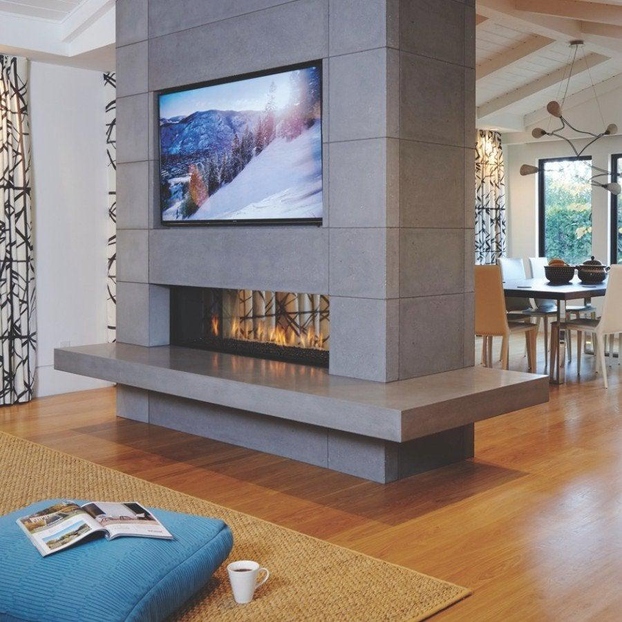 Ortal Tunnel 150 Mesh GAS FIRES - MODERN LINEAR FIREPLACE