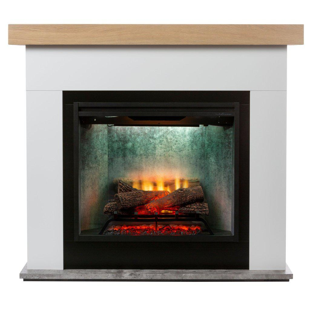 Huxley Suite With 2kW Reviliusion Concrete Look Firebox ELECTRIC FIRES FIREPLACES & HEATING