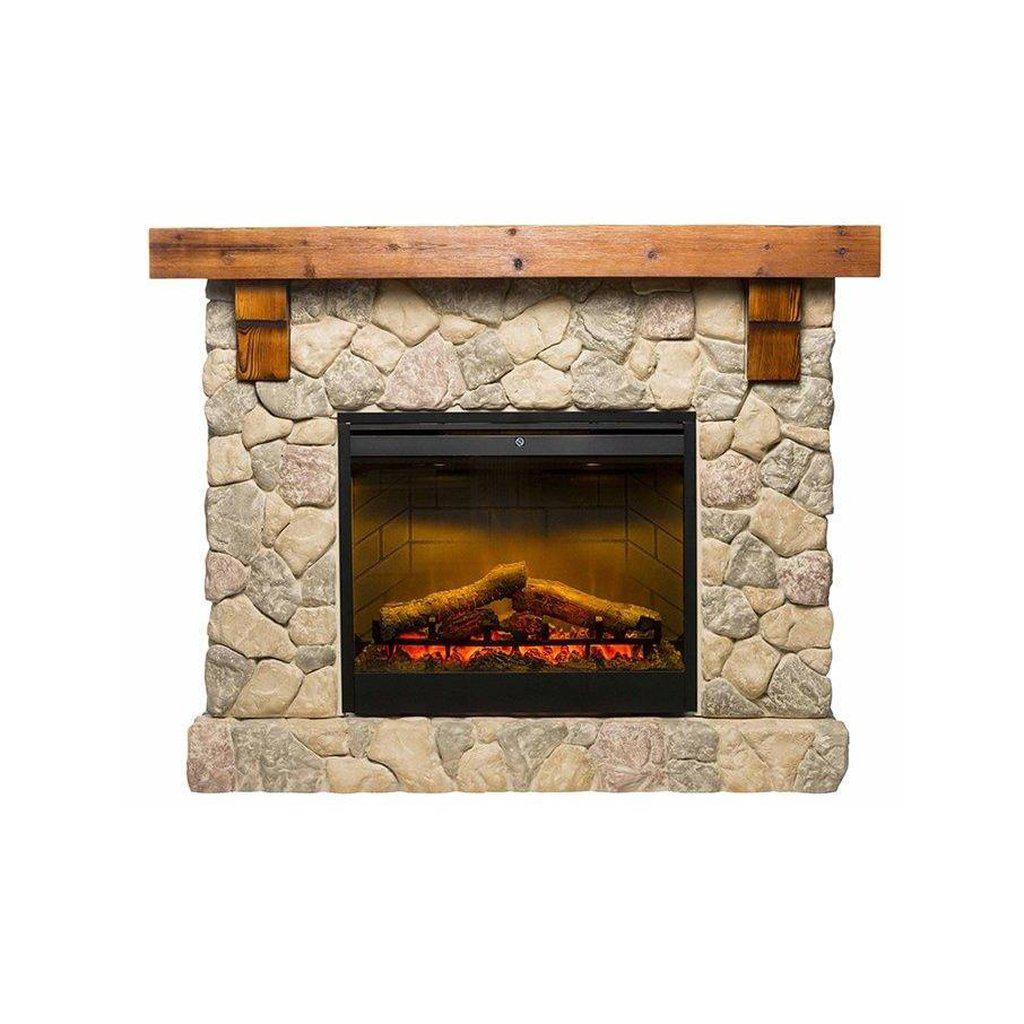 Fieldstone Mantle With 2kW Led Firebox ELECTRIC FIRES FIREPLACE
