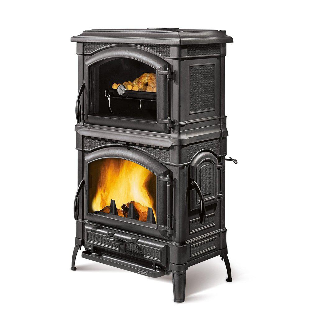 Isotta Forno Evo Cast Iron Wood Fireplace