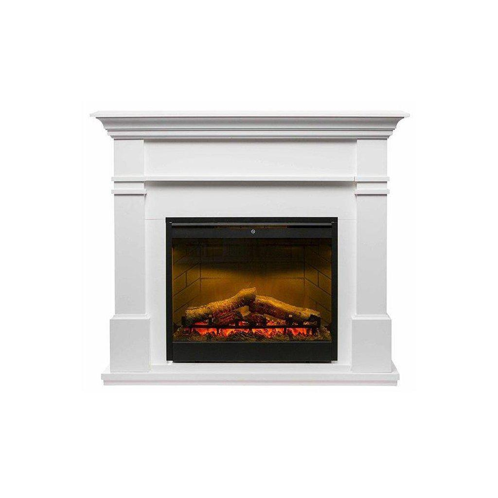 Kenton White Mantle With 2kW Led Firebox ELECTRIC FIRES FIREPLACES & HEATING