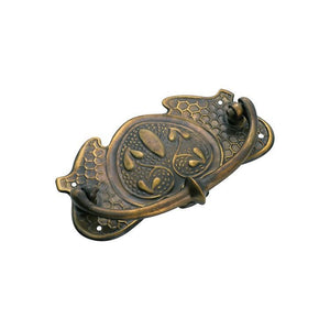 Cabinet Pull Handle Sheet Brass Nouveau Antique Brass H65xW120mm