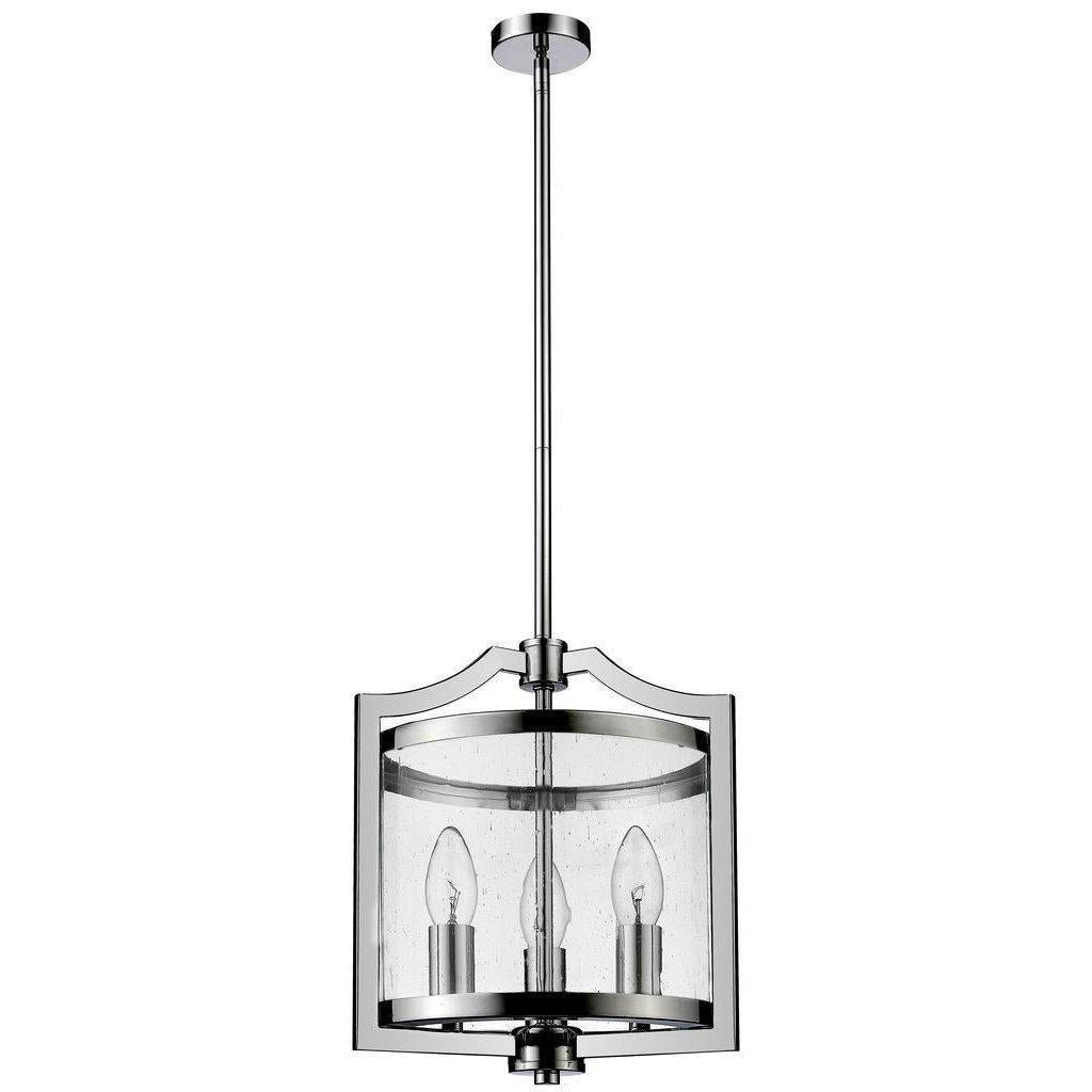 TYSON SML 3 LIGHT PENDANT CHROME H 36cm x W 27cm