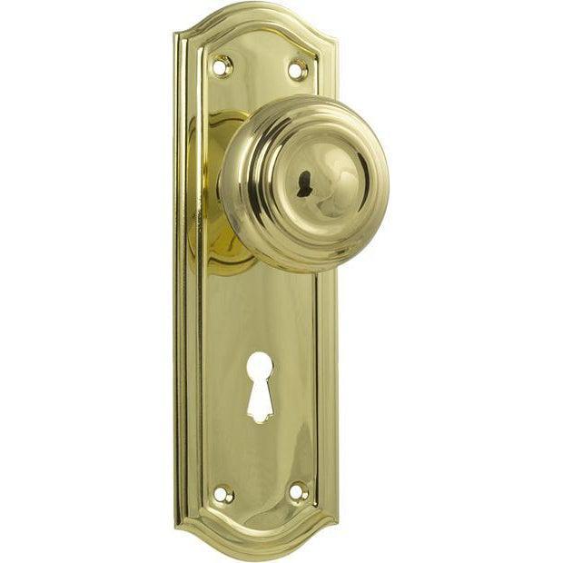 Door Knob Kensington Lock Polished Brass H175xP57xW58mm