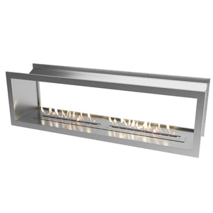 Slimline Double Sided Firebox 2000 with Slimline 2x800 Burner & Stainless Steel Fascia