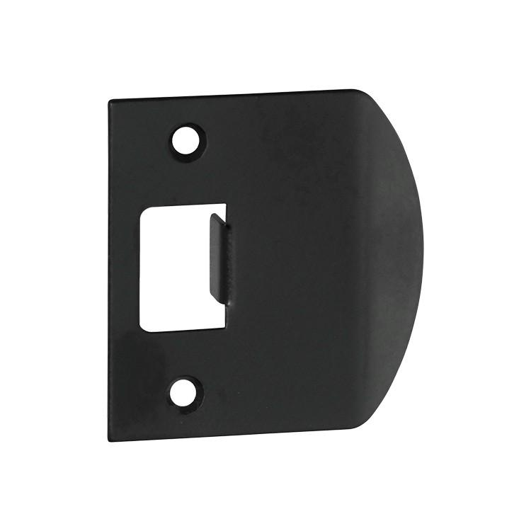 Tube Latch Striker Universal Extended 'D' Matt Black H56Xw53mm LOCKS, LATCHES & HINGES HARDWARE