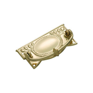 Cabinet Pull Handle Sheet Brass Edwardian Polished Brass H48xW100mm
