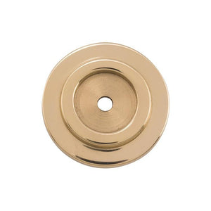 Backplate For Domed Cupboard Knob Polished Brass D32mm