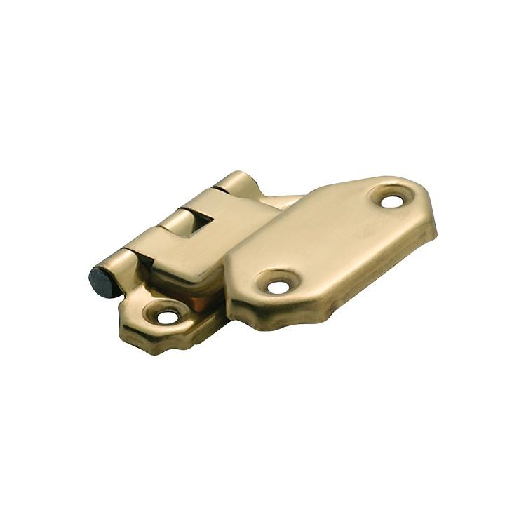 Cabinet Hinge Sheet Brass Fold Over Offset Polished Brass H42xW45mm