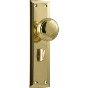 Door Knob Richmond Privacy Polished Brass H200xW50xP62mm