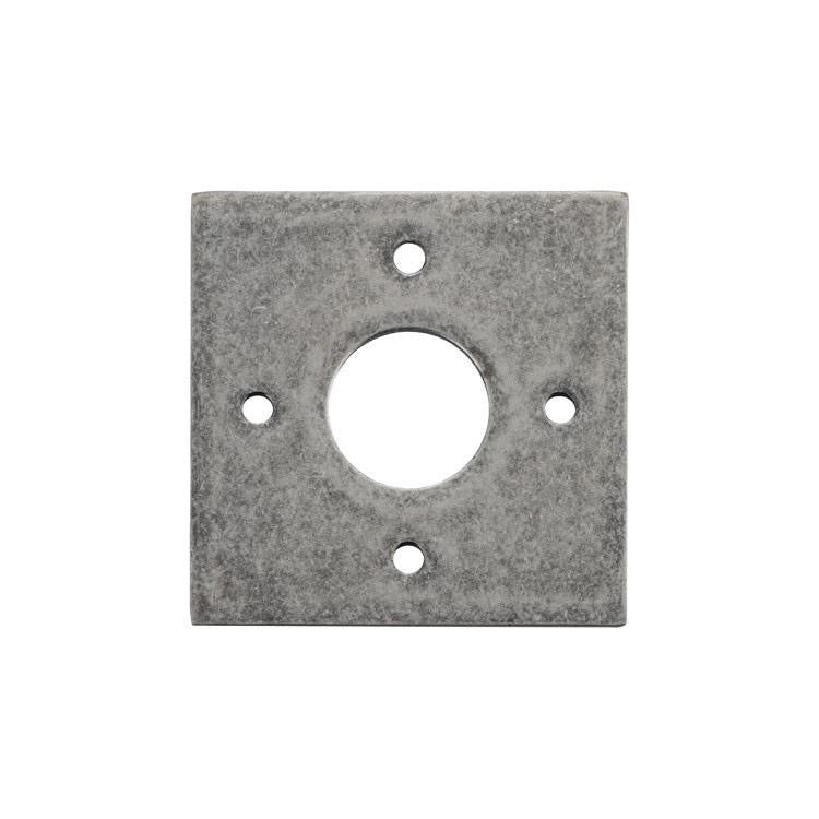 Adaptor Plate Pair Square Rose Rumbled Nickel H60xW60mm