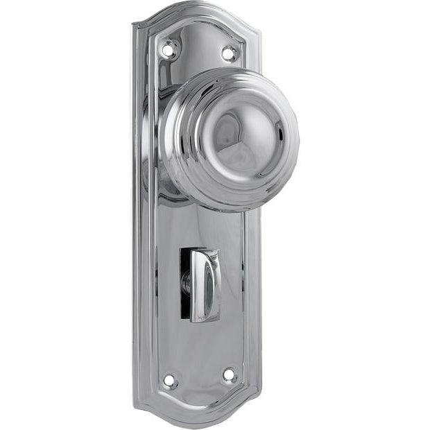 Door Knob Kensington Privacy Chrome Plated H175xP57xW58mm