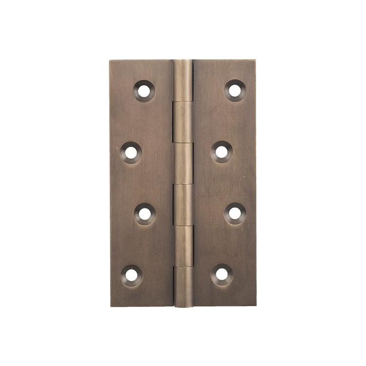 Hinge Fixed Pin Antique Brass H100xW60mm LOCKS, LATCHES & HINGES HARDWARE