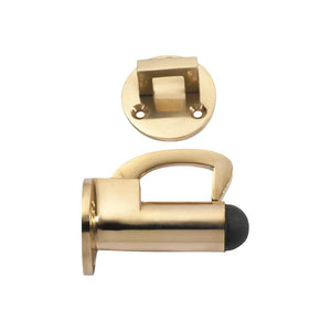 Door Stop Hook Polished Brass D39xP70mm