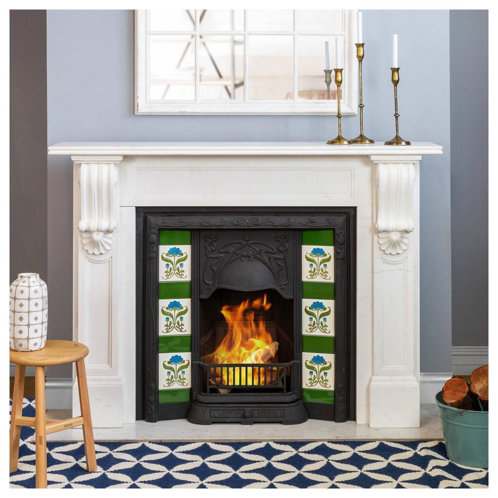 George Marble Mantle White Mantles and Surrounds FIREPLACES & HEATING