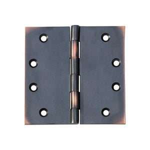 Hinge Fixed Pin Antique Copper H100xW100mm