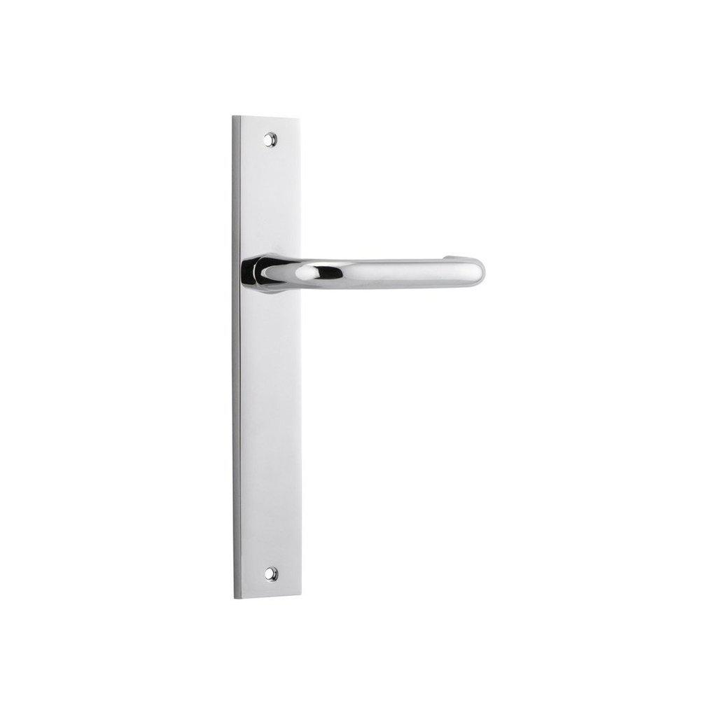 Door Lever Oslo Rectangular Latch Chrome Plated H237Xw50Xp57mm DOOR FURNITURE HARDWARE