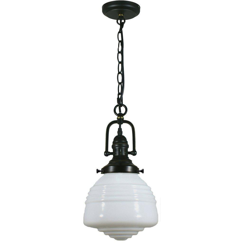 PARAMOUNT 1LT CHAIN SUSPENSION W DOMEC GLASS