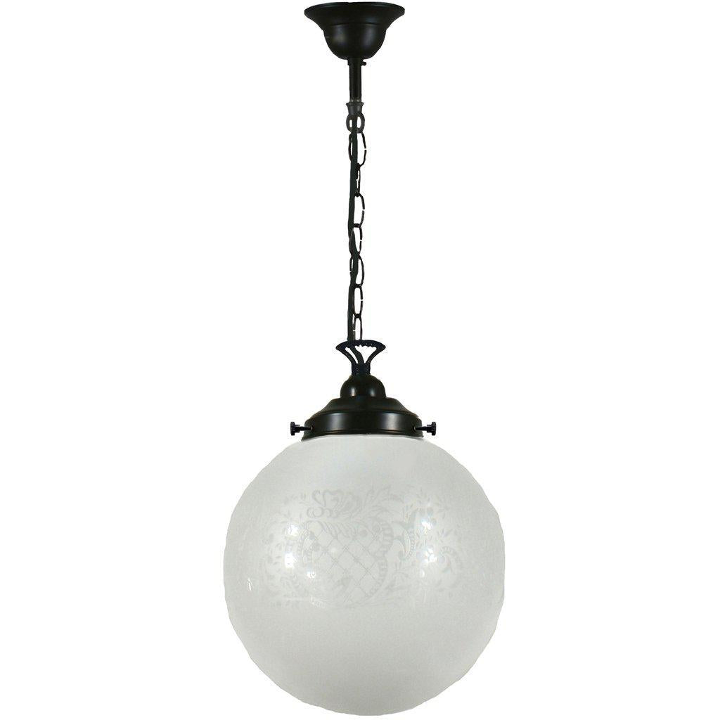 SHEFFIELD 10'' GLASS W SINGLE CHAIN SUSPENSION