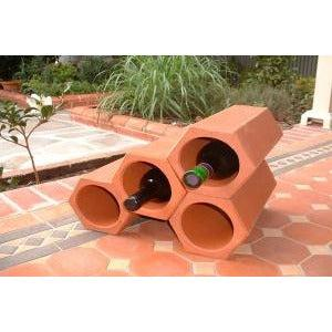 Terracotta Hexagonal Wine Rack 30X16cm CLAY PRODUCTS BUILDING SUPPLIES