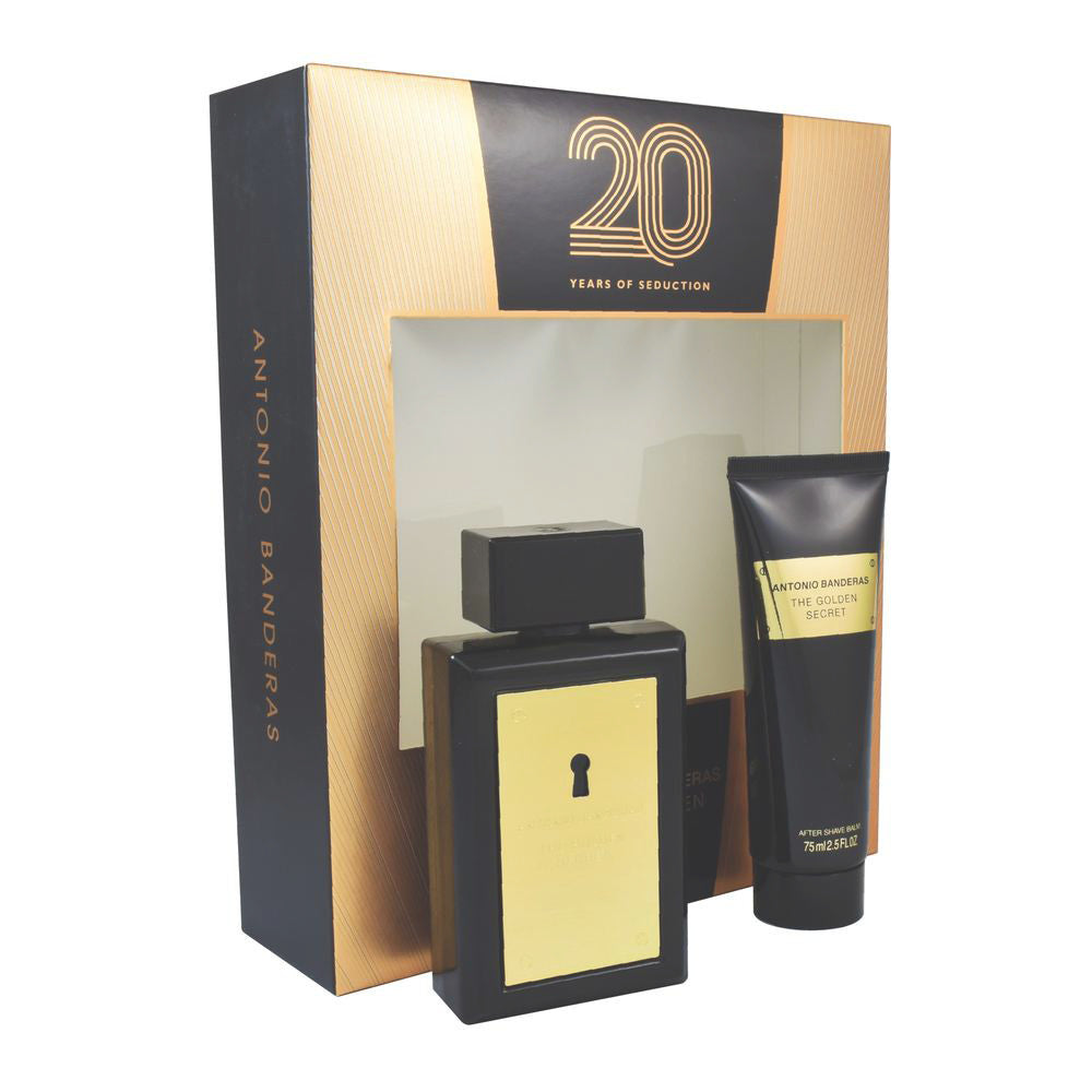 The Golden Secret EDT 100 ml + A Shave 75 ml - Antonio Banderas - Multimarcas Perfumes