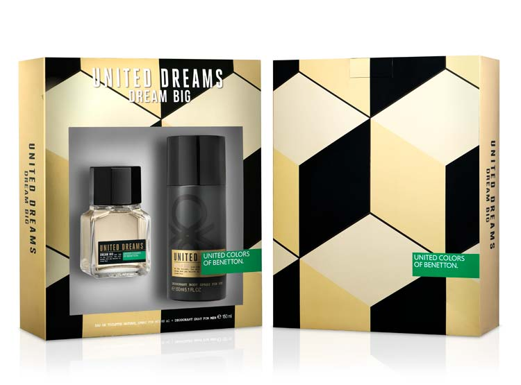 Dream Big Man EDT 60 ML + Deo 150 ml Estuche -Benetton