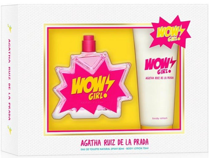Wow Girl EDT 80 ML + 75 ml Body Lotion  - Agatha Ruiz De La Prada
