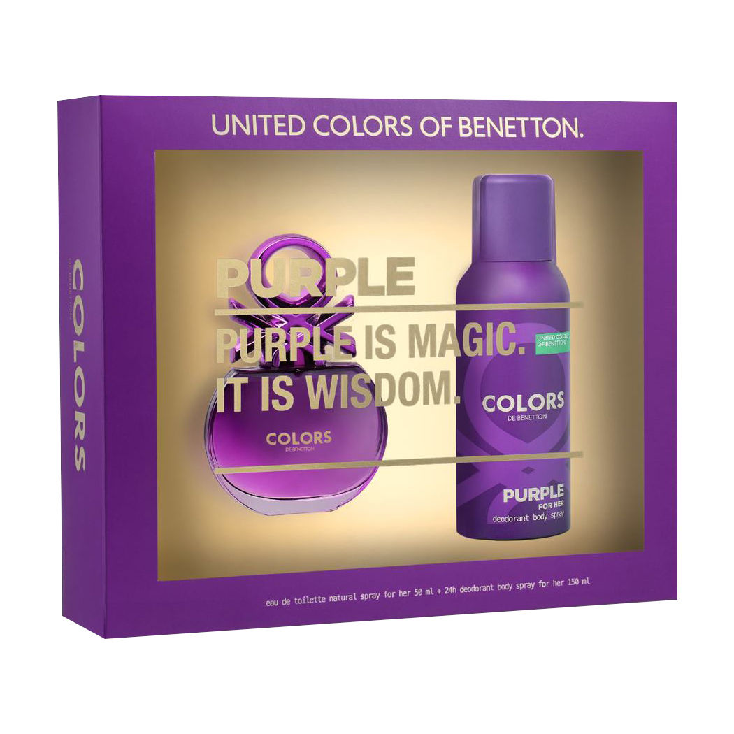 Colors Purple EDT 50 ml + Deo 150 - Benetton