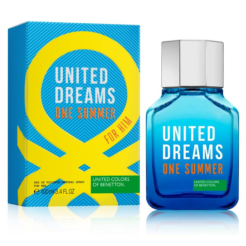 United Dreams One Summer For Him EDT 100 ml - Benetton (Azul)