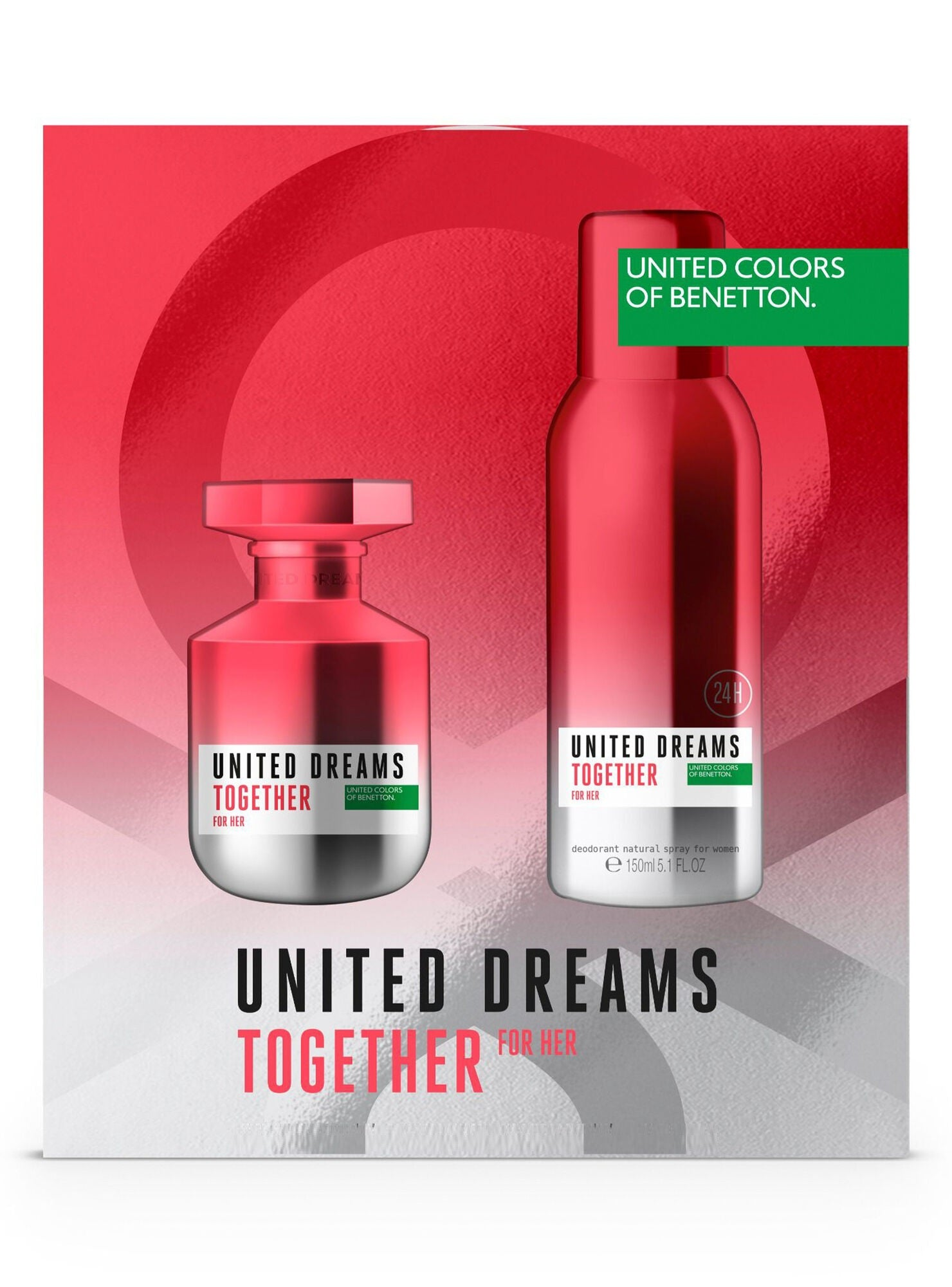 United Dreams  Together Her 80 ml + 150 Deo ml  Estuche - Benetton