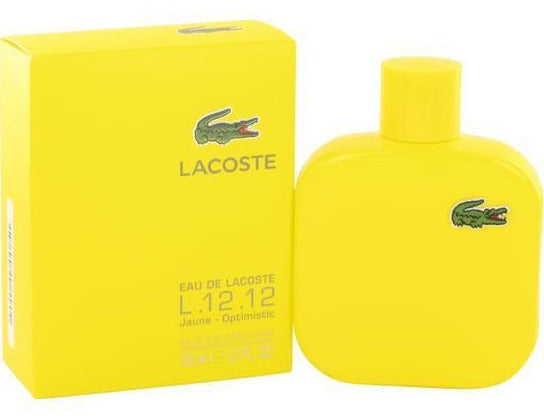 L.12.12 JAUNE OPTIMISTIC HOMME EDT 100 ML- LACOSTE