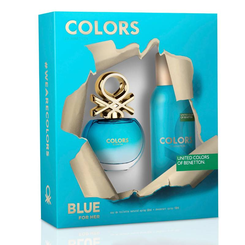Colors Blue Women EDT 50 ml + Deo 150 - Benetton