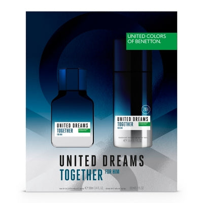 United Dreams Together Him EDT 100 ml + Deo 150 ml  - Benetton