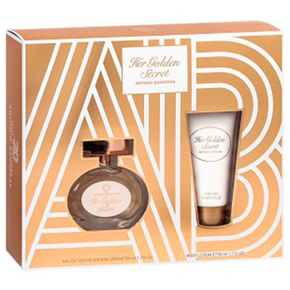 Her Golden Secret EDT 80 ml + Body Deodarant 150 ml - Antonio Banderas - Multimarcas Perfumes